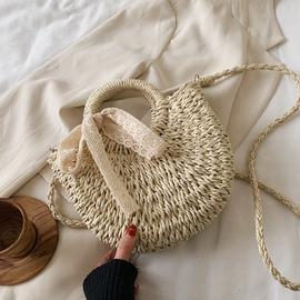 夏天草编小包包女包2020流行新款潮时尚单肩斜挎包百搭女士手提包