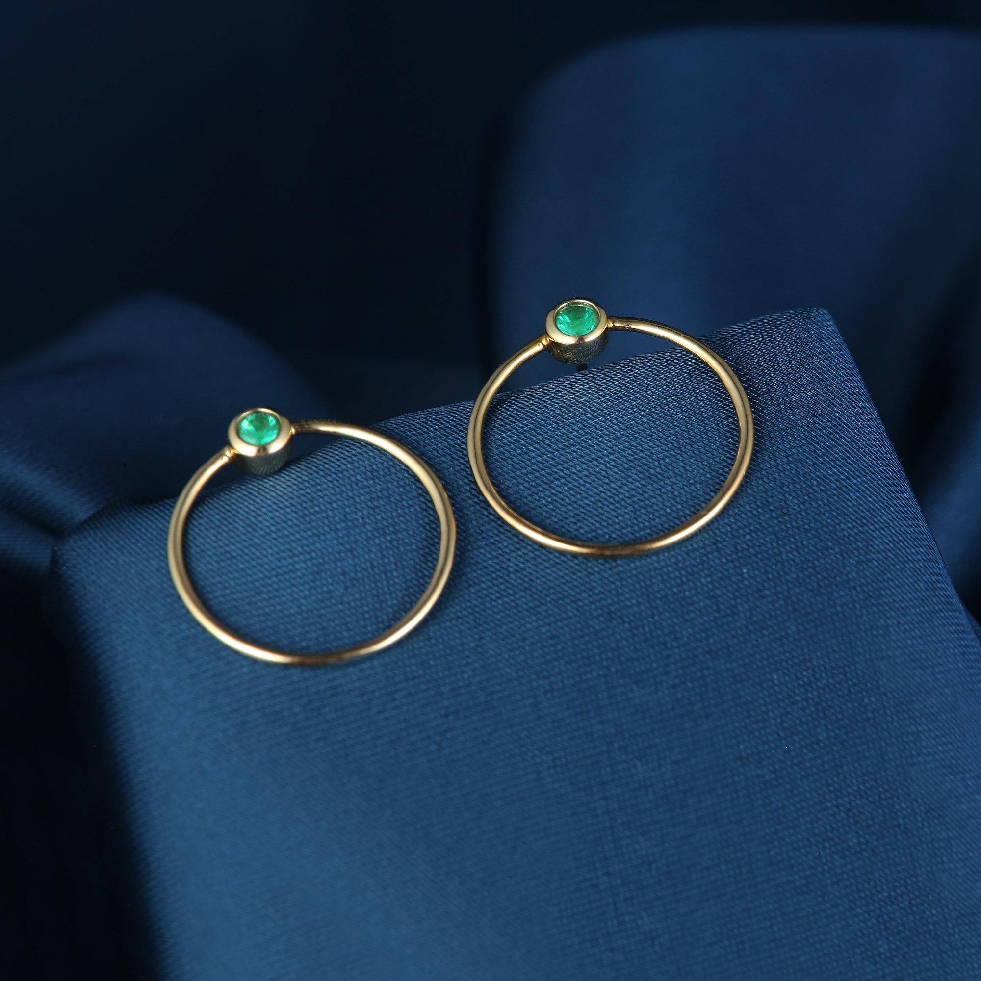 DCJewelry18K天然祖母绿耳钉项链套装欧美简约几何设计个性时尚OL