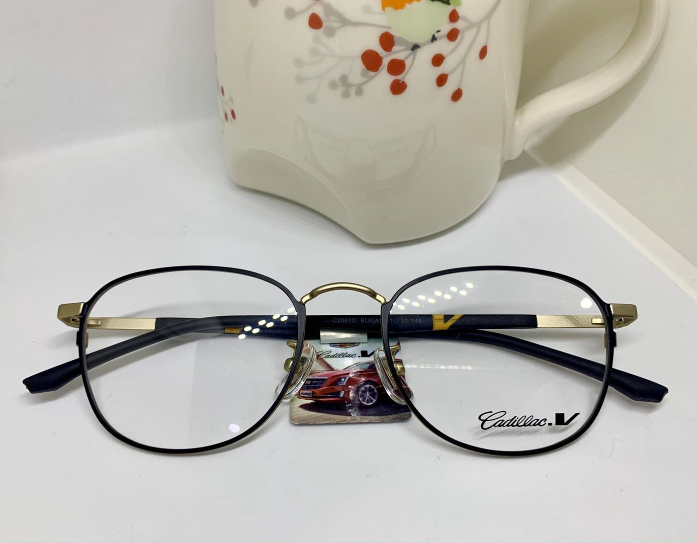 Cadillac凯迪拉克复古板材镜架男女文艺眼镜架全框气质舒适橡胶腿