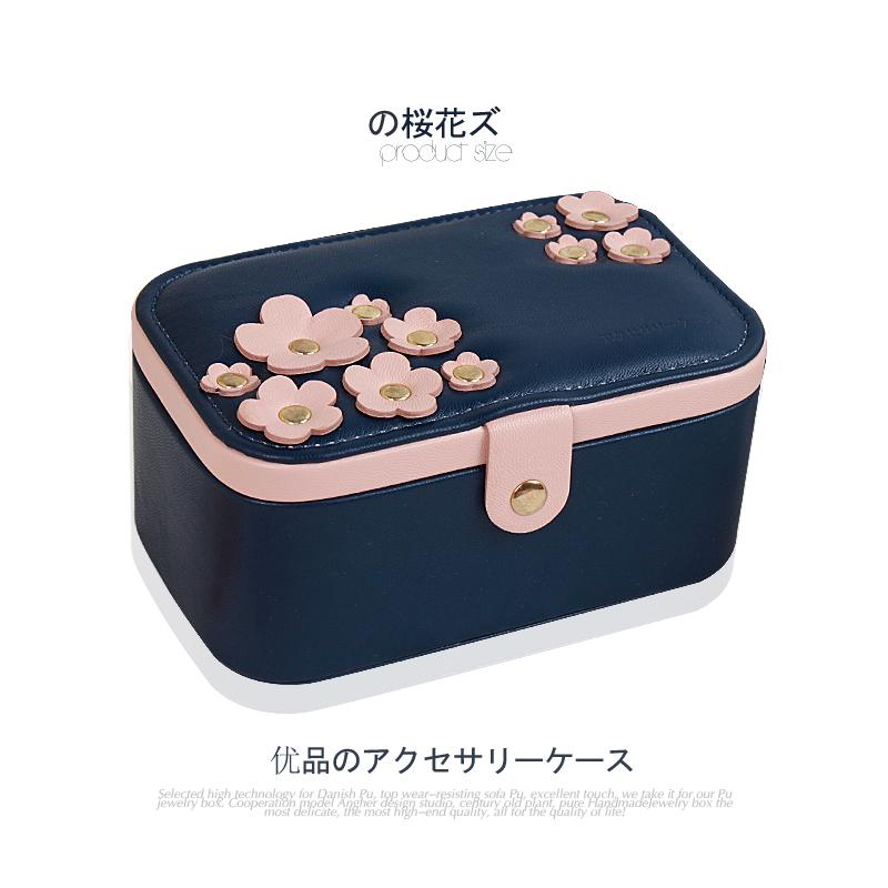 10月20日最新优惠sofis樱花简约欧式戒指盒收纳盒