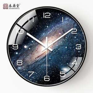 艺术挂钟北欧创意简约个性现代时尚家用客厅静音电子石英时钟挂表