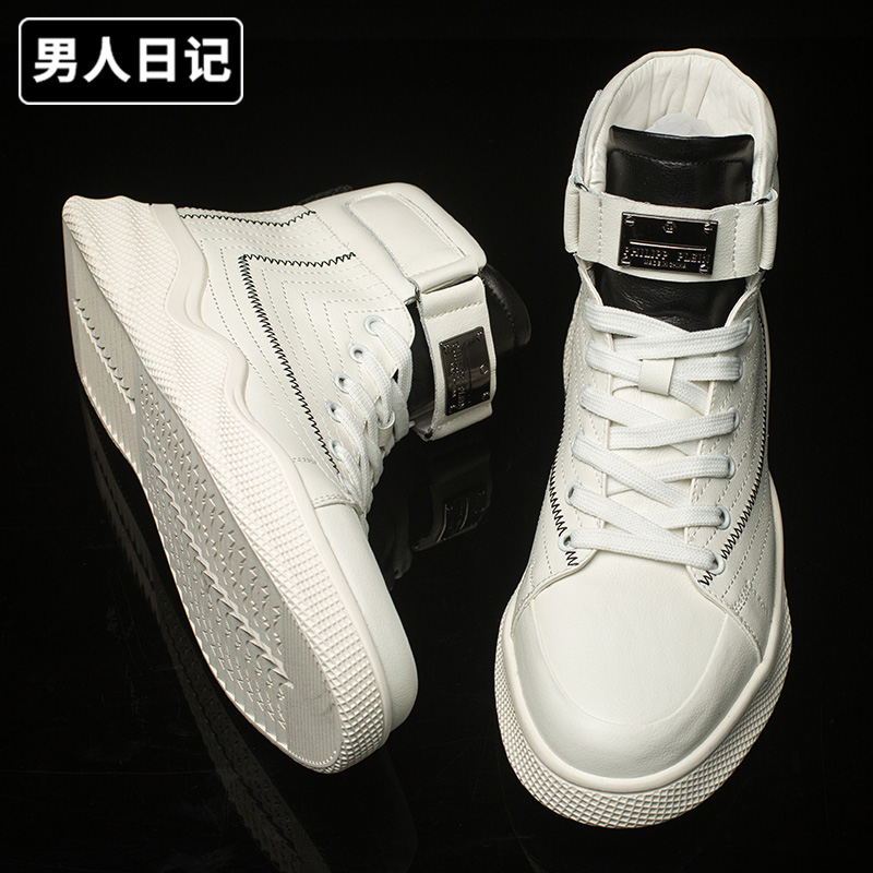 Mens diary mens shoes fashion shoes new air force No.1 high top small white shoes board shoes casual versatile net red Martin boots