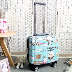 可爱行李箱男女儿童旅行箱18寸小型密码箱迷你拉杆箱16卡通皮箱子