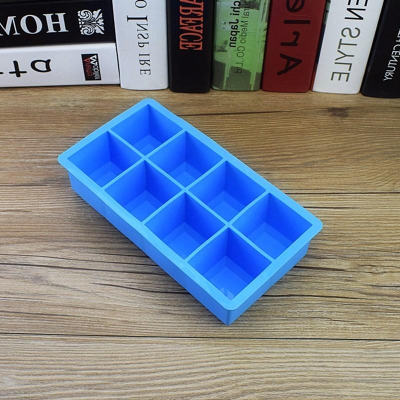8格硅胶商用大号冰箱模具冻制冰盒(非品牌)