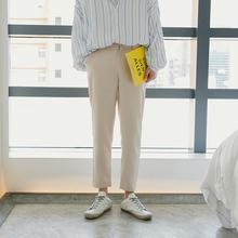 西西里男裝寬松直筒西裝褲九分西褲男士休閑西服褲子男韓版潮流