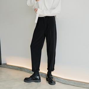 西西里男装韩版潮流西装裤宽松九分西服裤子男春季男士休闲西裤