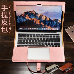 苹果笔记本电脑包air13.3寸macbook保护壳皮套新款16pro15.4内胆女手提12英寸mac提包袋可爱好看apple套个性