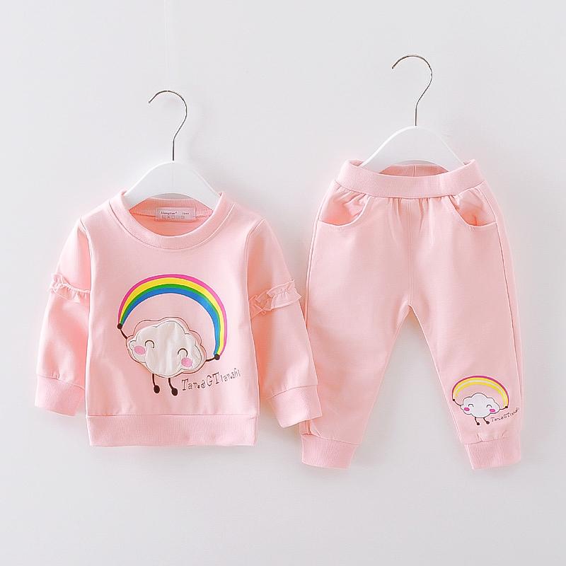 婴幼儿春季衣服女宝宝两件套女童长袖套装1-2-3岁童装小童春装潮