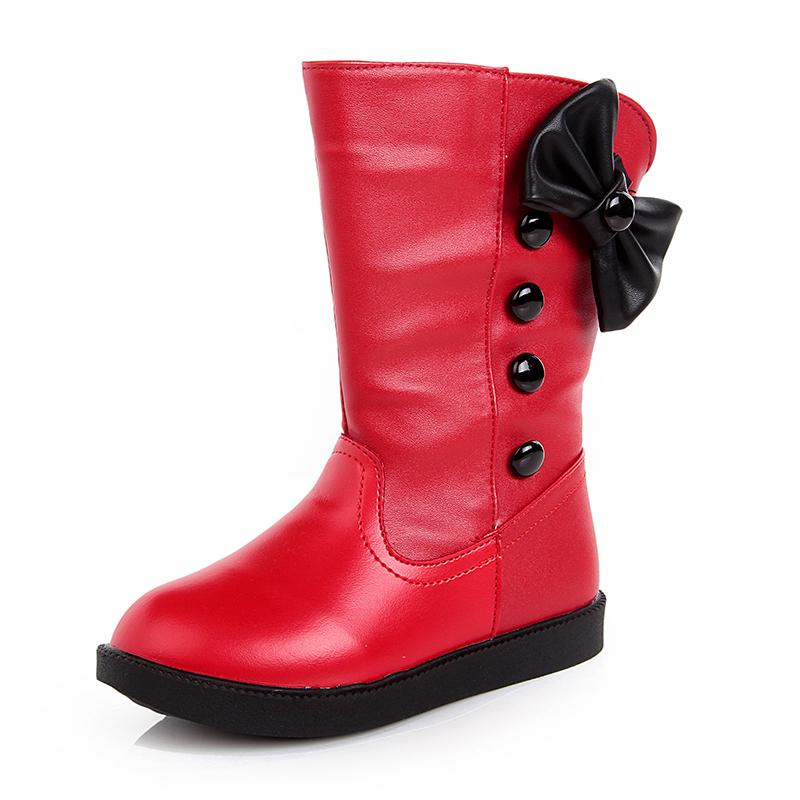 兒童靴子女童鞋加絨雪地鞋2016 新品棉鞋女孩棉靴寶寶長靴