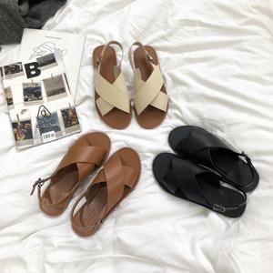 2021新款夏季仙女风韩国罗马鞋凉鞋