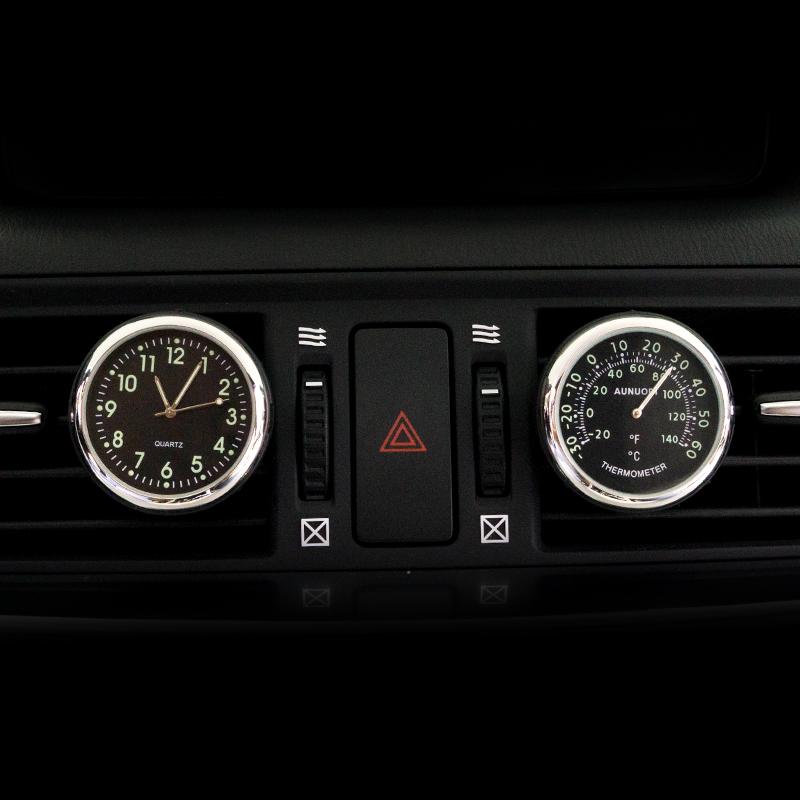 新标致408车载时钟夜光电子车用石英钟表标志308汽车装饰4008车钟