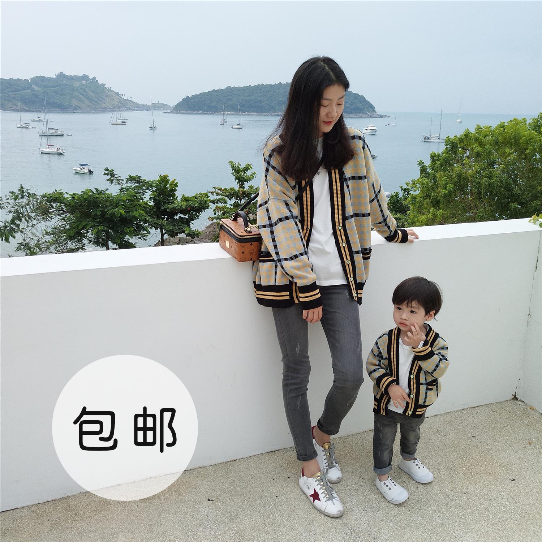 Ivan домой ребятишки 2018 детской одежды мальчиков весенние модели сетка пальто мать и дитя мать и дочь корейский девочки вязание кардиган