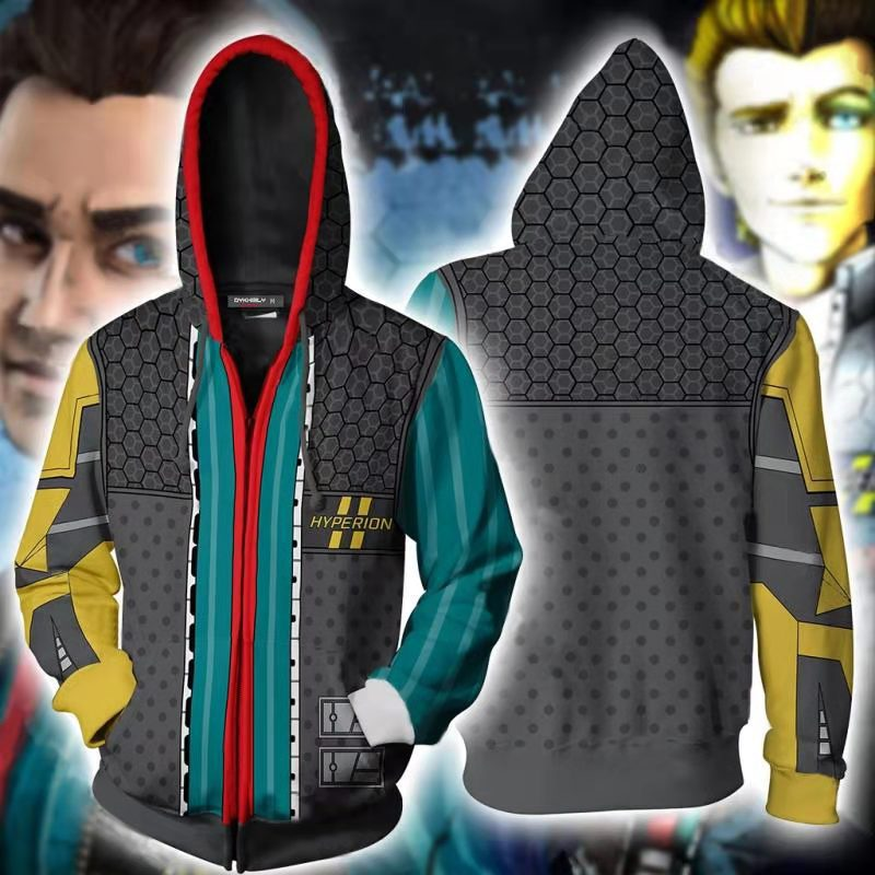 Fall 20 new classic game around no owners land handsome Jack 3D printed zipper Sweater Hoodie Jacket