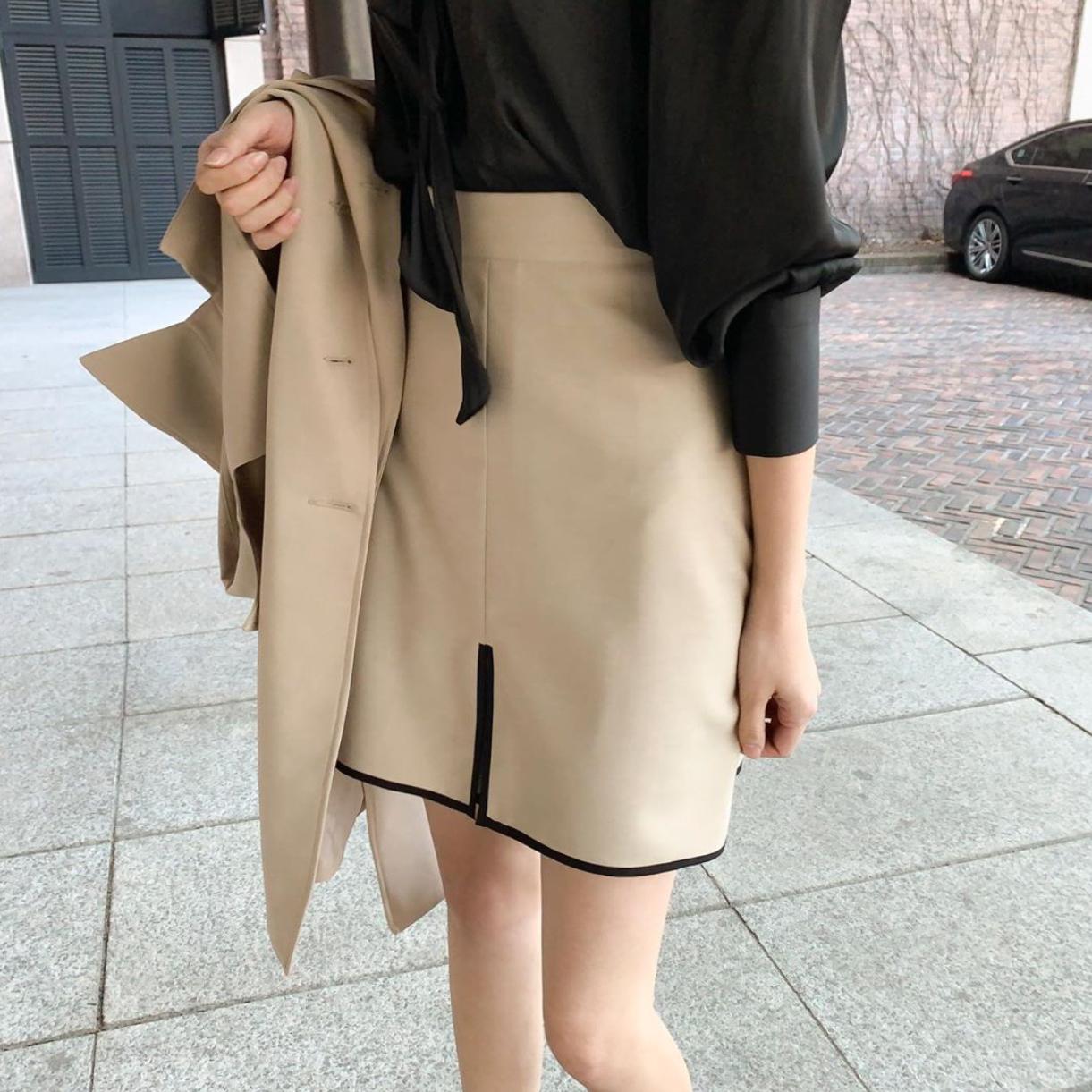 气质UP~OL夏季高腰半身裙修身包臀铅笔裙中短裙子女