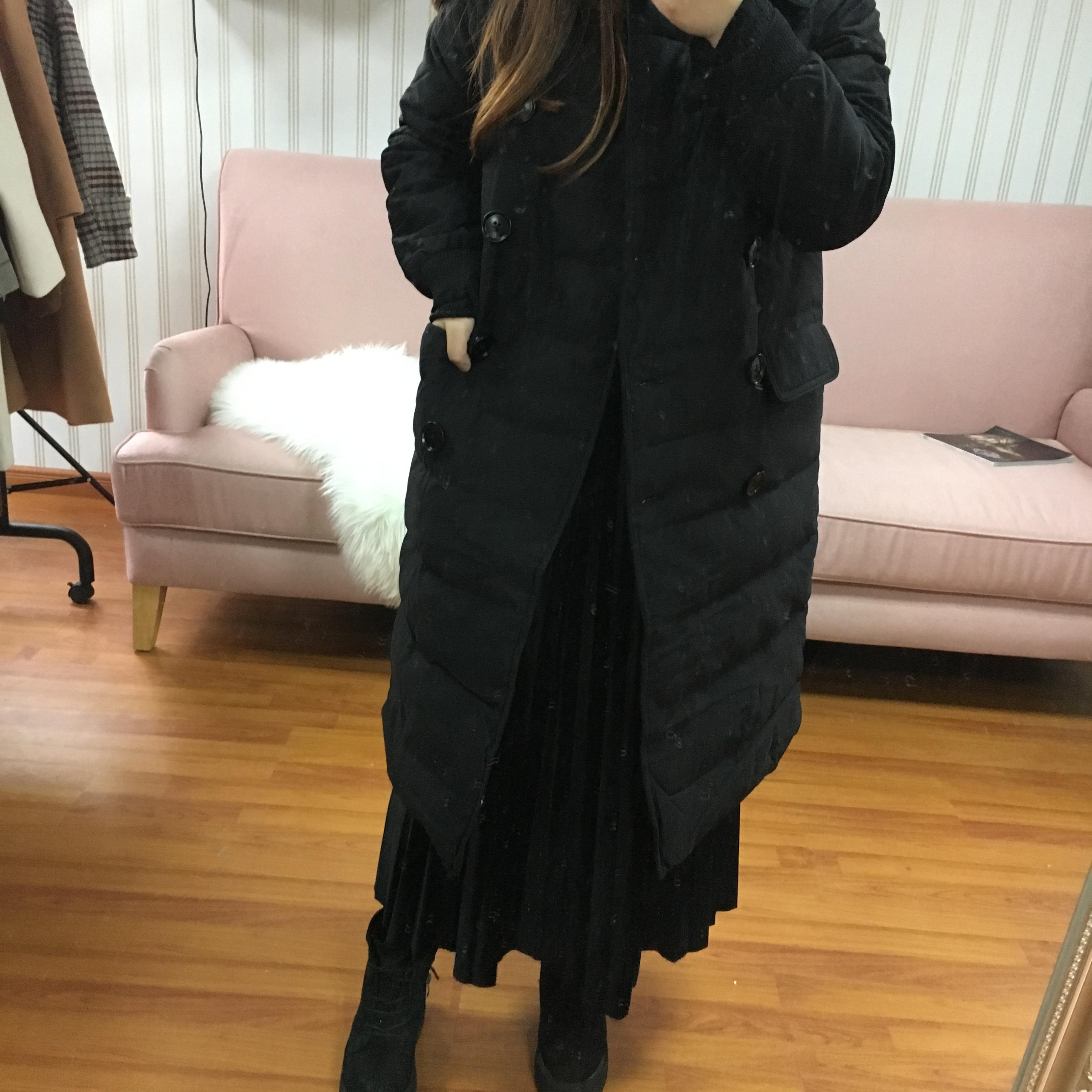 羽绒棉服女2017秋冬季新款韩版中长款修身外套mdt0150
