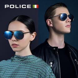 POLICE新款太阳眼镜潮骷髅头蛤蟆镜 明星男女同款开车墨镜SPL589K