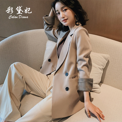2020年春季chic小西装外套女韩版英伦风网红显瘦西服女士气质上衣