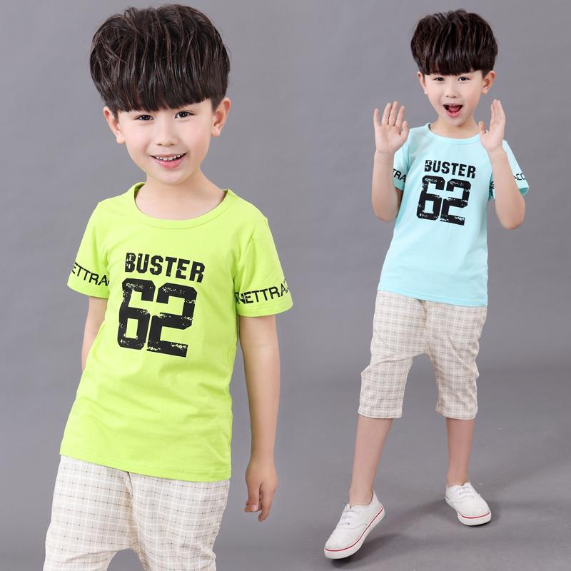 童装男童休闲套装2020新款夏装儿童韩版背带裤宝宝帅气短袖两件套