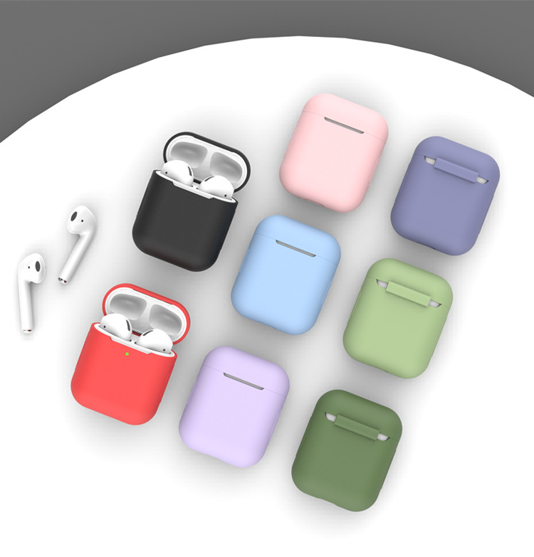 Airpods保护套2代1苹果液态硅胶蓝牙无线耳机ipod充电盒子airpods二代透明3代超薄软套Airpodspro保护壳潮pro