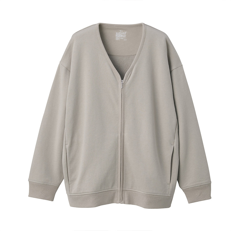 Network limited MUJI women's tightly knitted terry cotton jacket