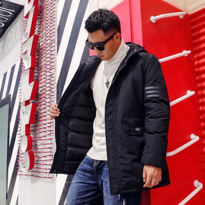 TIDEWORD潮牌大码男装冬装新款胖子棉服迷彩外套加肥加大号中长款