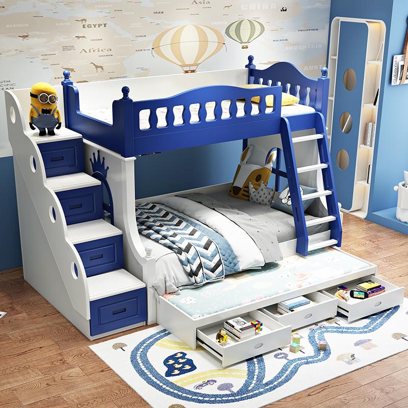男孩两层多功能儿童床
