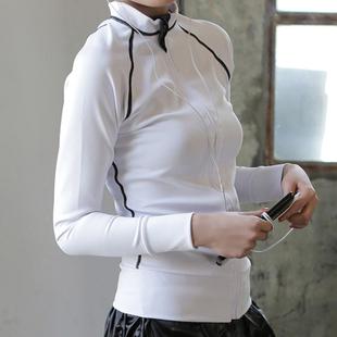 網紅運動套裝女健身瑜伽晨跑速幹秋冬防曬衣服訓練户外跑步短外套