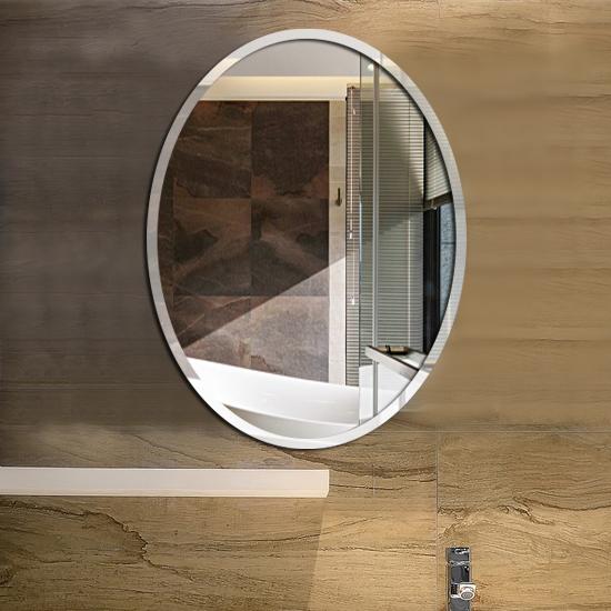 Простой гипотенуза овальный ванная комната зеркало ванная комната стена зеркало комод мыть бассейн зеркало настенный стекло зеркала