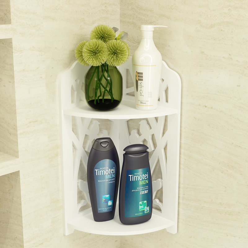 衛浴三角的置物架 浴室衛生間洗手間壁掛轉角架 防水免打孔不傷牆
