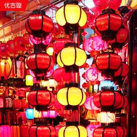 中秋节中国风室内阳台红灯笼挂饰LED发光连串小吊灯国庆装饰用品图片