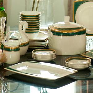 美式套装家用景德镇组合餐具碗碟