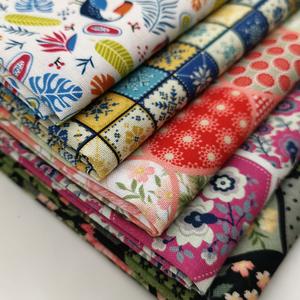 手工diy拼布棉布刺绣居家布艺面料植物花卉家纺家饰棉质工艺布料