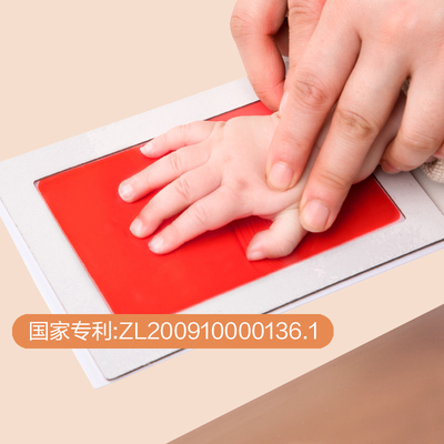 Infant and children no-washing hand and foot print pad permanent baby newborn full moon handprint footprint souvenir stamp pad non-toxic oil