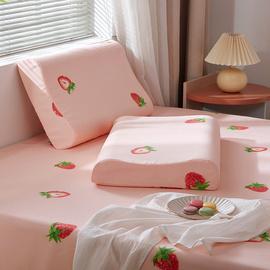 乳胶枕套枕头套一对装单个比纯棉凉爽儿童记忆夏天单人夏季冰丝