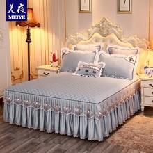 プリンセスレースのベッドカバーベッドスカートワンピースは、単一または二重厚いスキッドシモンズ保護スリーブ1.5m1.8mキルティング