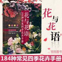 花与花语184种常见四季花卉手册花艺园艺鲜花朵花卉花名由来常用花语开花时节颜色分类种植信息手册书籍花语大全书花语含义解读