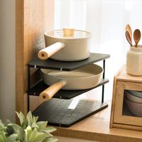 韩国进口厨房置物架多层家用台面放锅架案板架碗盘调料墙角收纳架