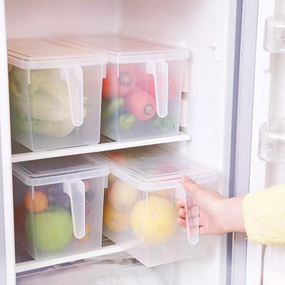 FaSoLa冰箱收纳盒长方形抽屉式透明冷藏盒水果蔬菜塑料储物整理盒