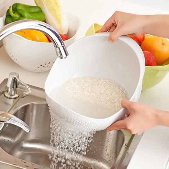 厨房淘米盆创意淘米萝加厚洗米筛淘米篮塑料洗水果洗菜沥水篮果盆,可领取1元天猫优惠券