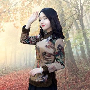 2020年冬唐裝女中國風加棉旗袍小棉襖加厚復古盤扣上衣中式女裝