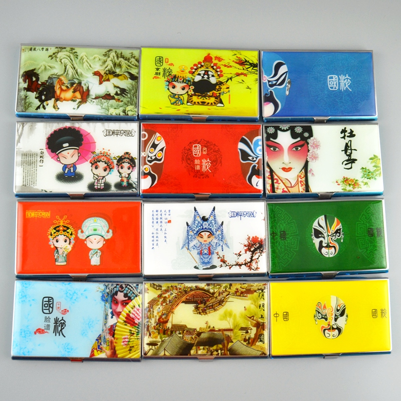 stainless steel Business Card Case Acial makeup in Beijing Opera Card Holders Chinese style gift Foreignerin the Arts and crafts , Folk arts and crafts Features , Facebook  category - from Buy2taobao.com to provide professional Taobao agent buy service