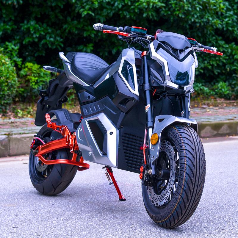 假一赔十新款小猴子m5 小怪兽z6电动摩托车72v电瓶车高速电摩双人跑车男