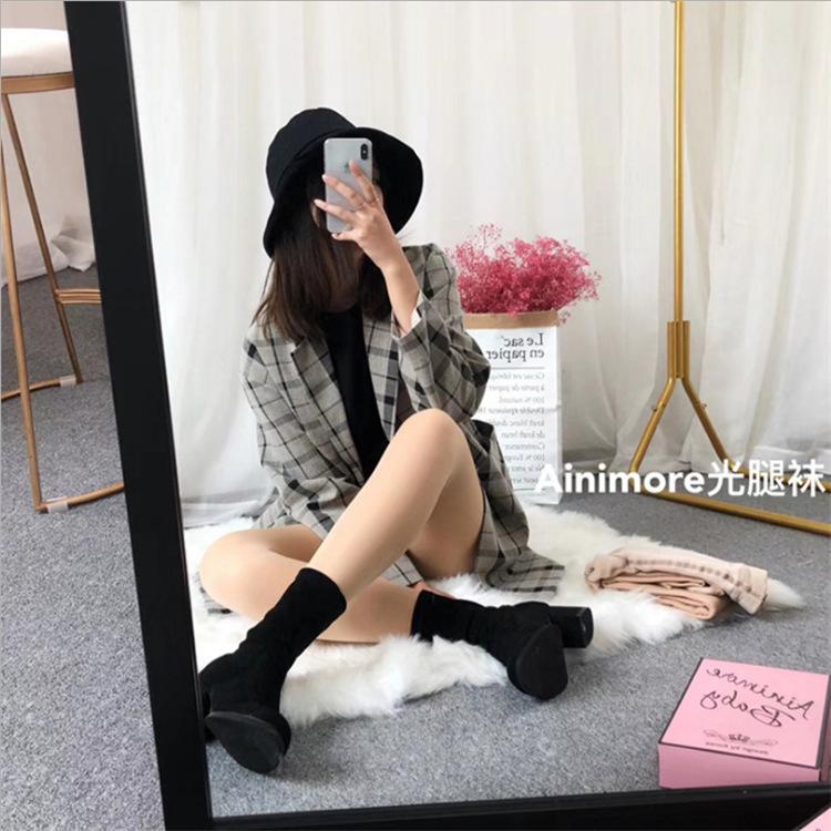 韩国ainimore baby婴儿粉光腿神器女超自然春秋冬裸感肉色打底袜