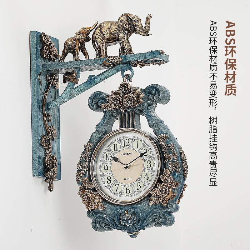 双面挂钟客厅静音欧式钟表时尚家用轻奢两面时钟创意现代简约北欧 Изображение 1