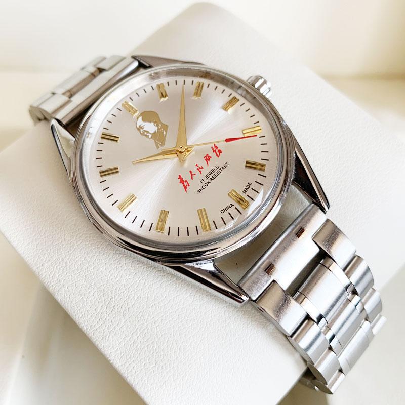 上海牌手表男全自动机械手动上链库存发条表经典复古纪念国产腕表