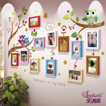 7-inch photo frame wall combination living room bedroom personality creative decoration self-adhesive wall children photo wall frame wall