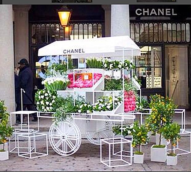 欧式铁艺花车户外精品花艺摆饰创意促销车超市花车货架花店展示架