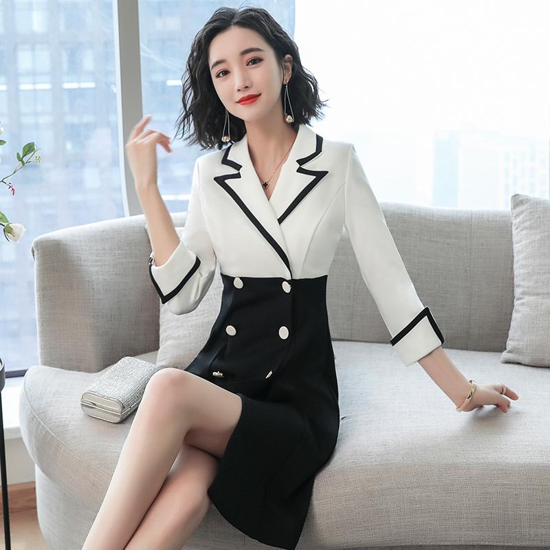 Suit dress 2021 new spring aging elegant temperament skirt womens summer harvest waist thin fishtail skirt professional dress