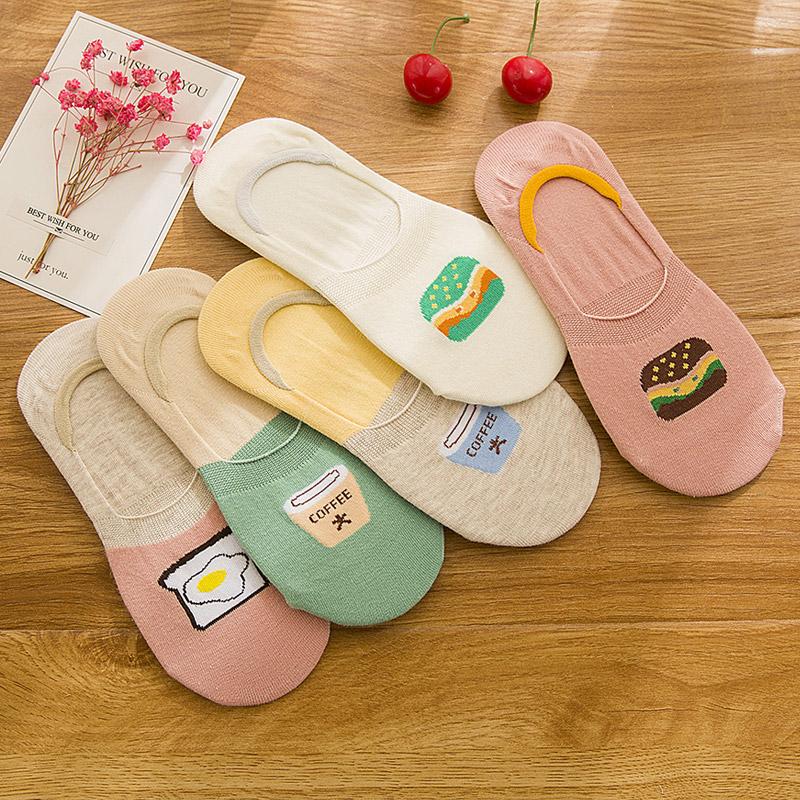 船袜女袜子纯棉隐形袜低帮短袜浅口韩国可爱硅胶防滑袜子批发夏季