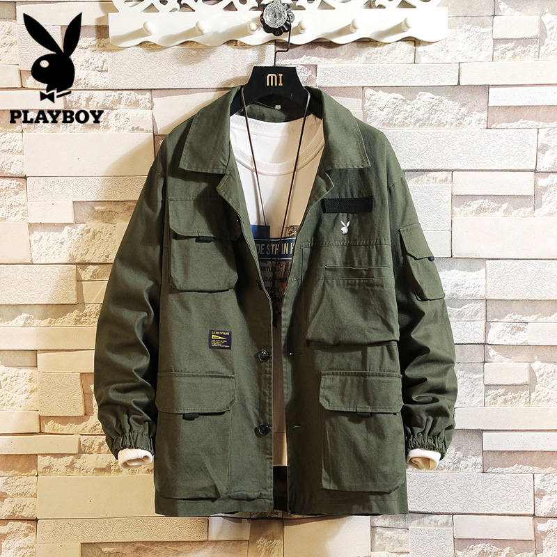 Playboy Korean Trend handsome baseball suit men's casual coat in spring and autumn functional youth slim jacket